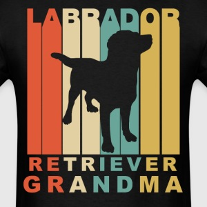 Retro Style Labrador Retriever Grandma - Men's T-Shirt