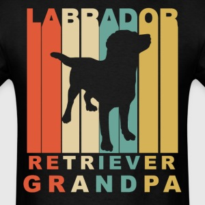 Retro Style Labrador Retriever Grandpa - Men's T-Shirt