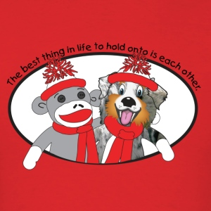 Sock Monkey and Aussie T-Shirts - Men's T-Shirt