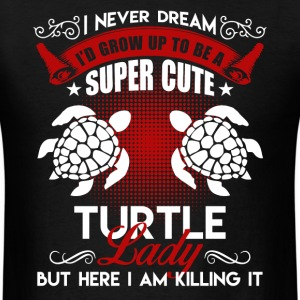 Super Cute Turtle Lady Shirt - Men's T-Shirt
