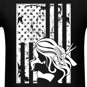 Hair Stylist Flag Shirts - Men's T-Shirt