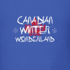 Canadian Winter Wonderland - Men's T-Shirt