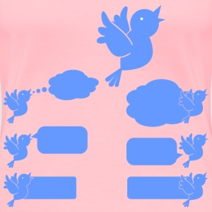 Social Media Blue Bird Icons - Women's Premium T-Shirt