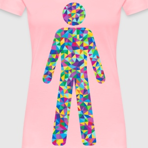 Prismatic Low Poly Male Symbol Silhouette - Women's Premium T-Shirt
