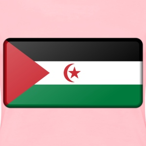 Sahrawi Arab Democratic Republic flag (bevelled) - Women's Premium T-Shirt