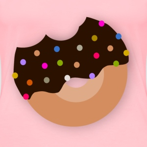 Delicious Donut With Chocolate - Women's Premium T-Shirt