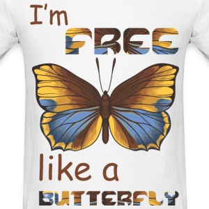 I'm free like a butterfly - Men's T-Shirt