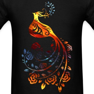 Colorful bird with Flower - Men's T-Shirt