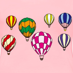 Hot Air Balloon Scene Minus Background - Women's Premium T-Shirt