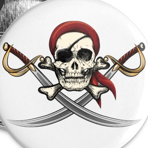 Pirate Skull  Buttons - Small Buttons
