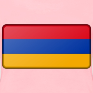 Armenia flag (bevelled) - Women's Premium T-Shirt