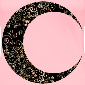 Gold Floral Crescent Moon Mark II 12 - Women's Premium T-Shirt