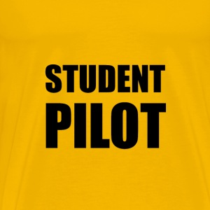 Student Pilot Caution - Men's Premium T-Shirt