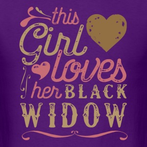This Girl Loves Her Black Widow Spider T-Shirts - Men's T-Shirt