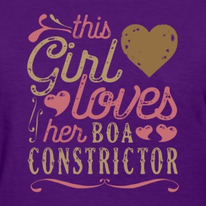 This Girl Loves Her Boa Constrictor T-Shirts - Women's T-Shirt