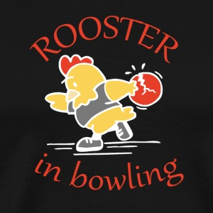 Rooster in Bowling - Men's Premium T-Shirt