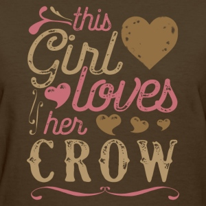 This Girl Loves Her Crow T-Shirts - Women's T-Shirt