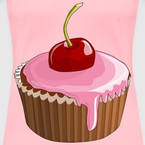 Cherry Cupcake - Women's Premium T-Shirt