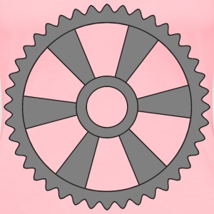40tooth gear with radial spokes - Women's Premium T-Shirt