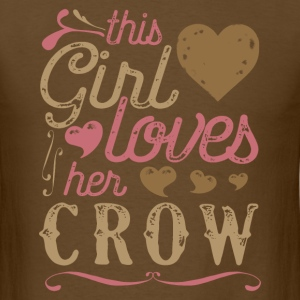 This Girl Loves Her Crow T-Shirts - Men's T-Shirt