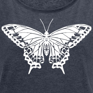 Butterfly - Women´s Rolled Sleeve Boxy T-Shirt