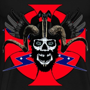 Viking rebel skull - Men's Premium T-Shirt
