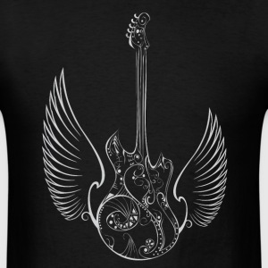 Love Music Guitar Wings T-Shirts - Men's T-Shirt