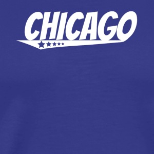 Chicago Retro Comic Book Style Logo - Men's Premium T-Shirt