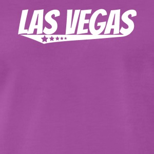 Las Vegas Retro Comic Book Style Logo - Men's Premium T-Shirt