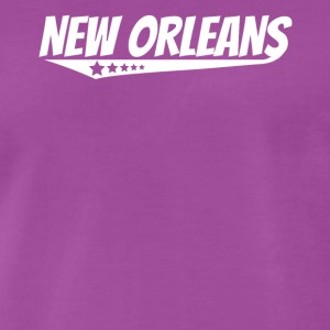 New Orleans Retro Comic Book Style Logo - Men's Premium T-Shirt