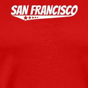 San Francisco Retro Comic Book Style Logo - Men's Premium T-Shirt