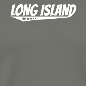Long Island Retro Comic Book Style Logo - Men's Premium T-Shirt