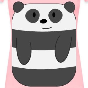 Cute Cartoon Panda with Hands - Women's Premium T-Shirt
