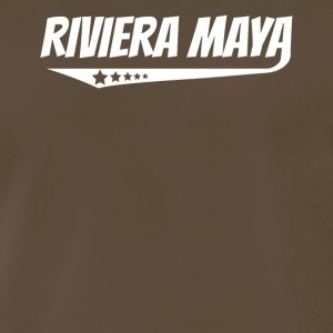 Riviera Maya Retro Comic Book Style Logo - Men's Premium T-Shirt
