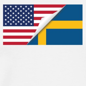 Half American Half Swedish Flag - Men's Premium T-Shirt