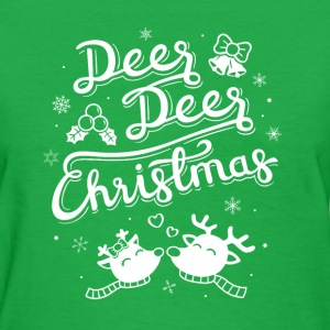 Cute Reindeer Deer Christmas T-Shirts - Women's T-Shirt