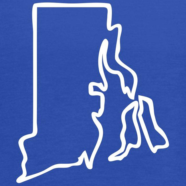 Rhode Island Outline Womens