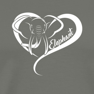 Elephant Heart Shirt - Men's Premium T-Shirt