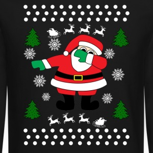 Santa Dab Long Sleeve Shirts - Crewneck Sweatshirt