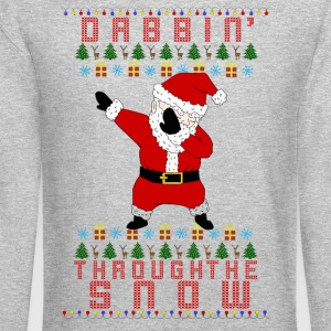 Santa Dabbin Long Sleeve Shirts - Crewneck Sweatshirt