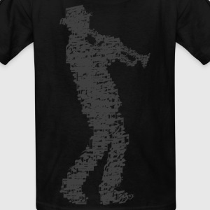 trumpet player made of notes Kids' Shirts - Kids' T-Shirt