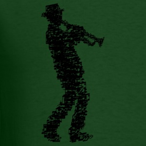 trumpet player made of notes_09201604 T-Shirts - Men's T-Shirt
