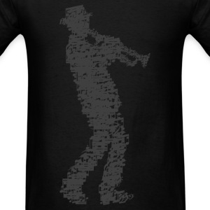 trumpet player made of notes T-Shirts - Men's T-Shirt