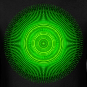 Green Star Mandala T-Shirts - Men's T-Shirt