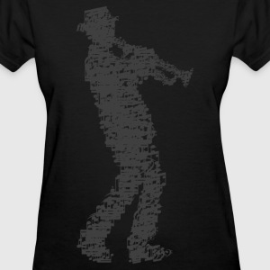 trumpet player made of notes T-Shirts - Women's T-Shirt