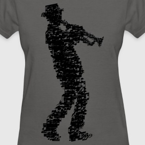 trumpet player made of notes_09201604 T-Shirts - Women's T-Shirt