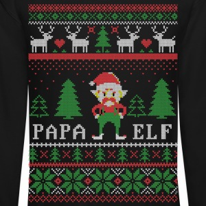 Papa Elf Ugly Christmas Long Sleeve Shirts - Crewneck Sweatshirt