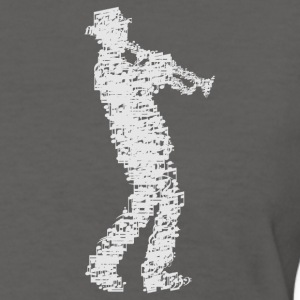 trumpet player made of notes_09201601 T-Shirts - Women's T-Shirt
