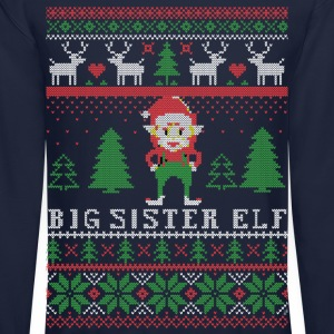 Big Sister Elf Long Sleeve Shirts - Crewneck Sweatshirt