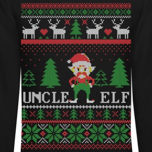 Uncle Elf Ugly Christmas Long Sleeve Shirts - Crewneck Sweatshirt